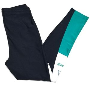 Vintage Le Coq Sportif Black Colorblock Leggings